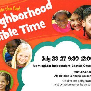 Neighborhood Bible Time (Vacation Bible School)